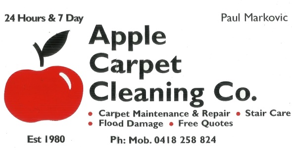 Apple Carpet Cleaning Business Card